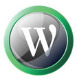wikipedia sign inside green bubble icon on a vector image vector image