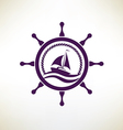 yacht symbol regatta and travel concept vector image