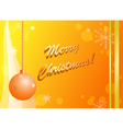 yellow and orange christmas card vector image