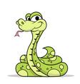 Green Poison Snake vector image