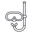 diving mask line icon sign vector image