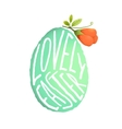 Single Easter Egg with Flower Decoration in vector image