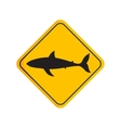 shark silhouette board vector image