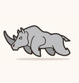 angry rhino attack graphic vector image vector image