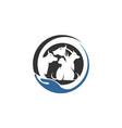 animal pet logo template vector image vector image