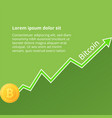 arrow of the growth rate of the crypto vector image vector image