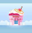 bakery shop building front vector image vector image