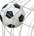 ball hit net vector image vector image