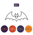 bat icon for web isolated on white background vector image vector image