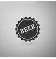 Beer bottle cup simple icon vector image vector image