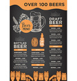 Beer restaurant cafe menu template design
