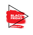 black friday sale banner red grunge effect with vector image