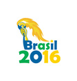 Brasil 2016 Summer Games Athlete Hand Torch vector image vector image