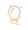 Bulb light icon design