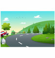 car routes for travel vector image vector image