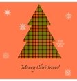 Card with a Scottish tree vector image vector image