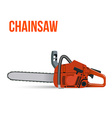 Chainsaw isolated on white background vector image vector image