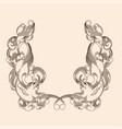 classic vintage ornament vector image