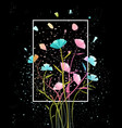 colorful flowers abstract background vector image vector image