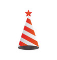 cone hat graphic design element vector image vector image
