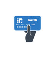 credit card pay related glyph icon vector image