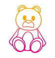 degraded line bear teddy cute toy childhood vector image vector image