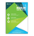 design brochure flyer template vector image vector image