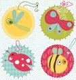 design elements for baby scrapbook vector image vector image