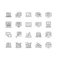 desktop line icons signs set outline vector image vector image