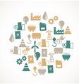 Energy and industry icons vector image vector image