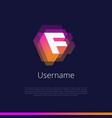 f-monogram-logo vector image vector image