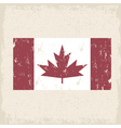 flag canada red maple leaf grunge design vector image
