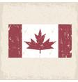 flag of canada red maple leaf grunge design vector image vector image