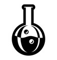 flask icon simple black style vector image vector image