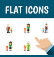 flat icon people set of daugther boys grandson vector image vector image