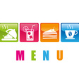 food menu vector image vector image