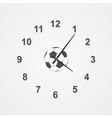 football clock vector image vector image