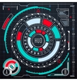 Futuristic user interface elements set HUD vector image vector image