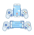 Gamepad for your phone Accessories for mobile vector image vector image