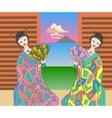 geishas vector image