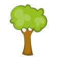 Green tree icon cartoon style vector image