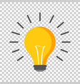 halogen lightbulb icon light bulb sign vector image