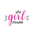 hand drawn lettring girl power isolated on vector image vector image