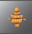 Happy thanksgiving day label witn greeting