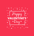 happy valentines day heart design vector image vector image