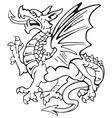 heraldic dragon No1 vector image vector image