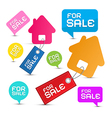 House For Sale Paper Icons Set vector image vector image