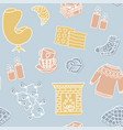 hygge seamless pattern cute autumn and winter vector image