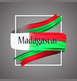madagascar flagofficial national madagascan 3d vector image