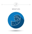 Measuring tape icon Weight loss sign vector image vector image